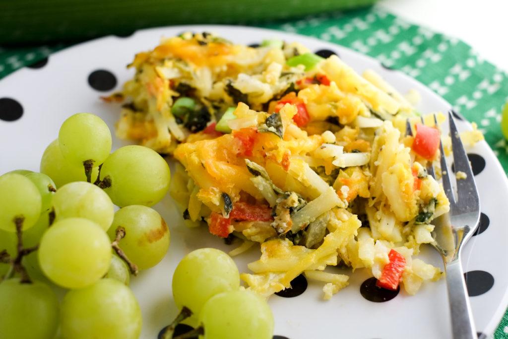 Kids love this healthier hashbrown casserole!