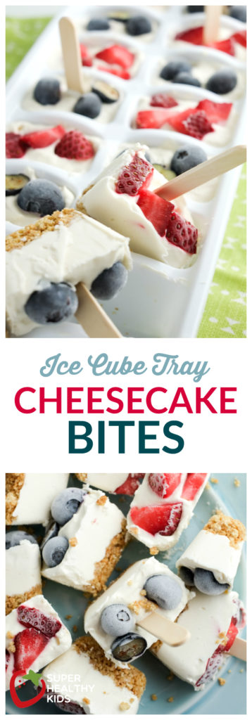 FOOD- Ice Cube Tray Cheesecake Bites | No bake, lightened up treat! | Super Healthy Kids