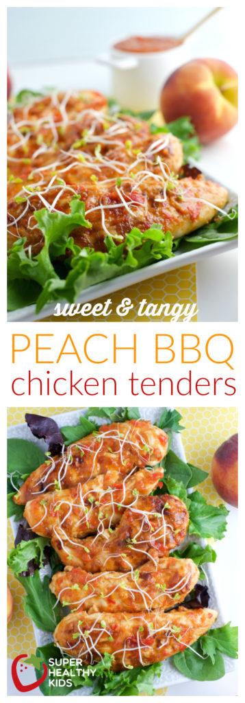 Food- Sweet & Tangy PEACH BBQ Chicken Tenders (kids love!) | Super Healthy Kids