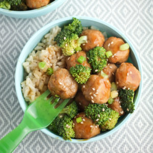 Tiny Teriyaki Meatball Bowls