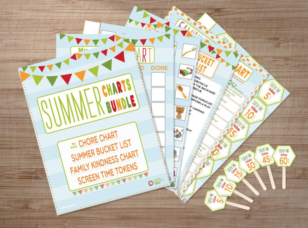summer chore chart printables