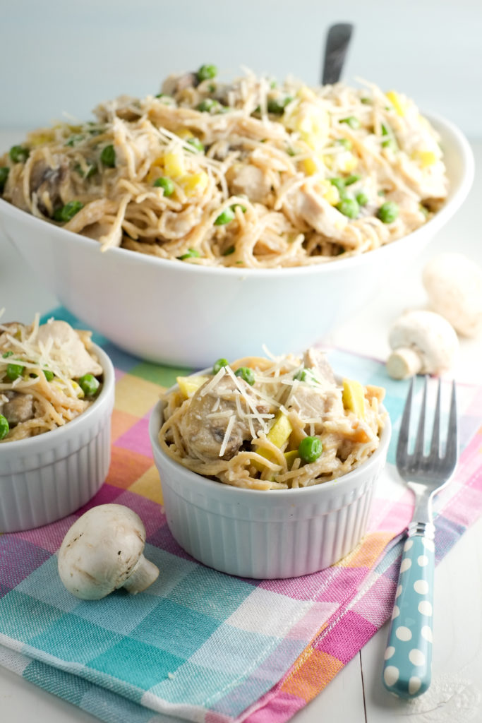 This recipe makes a ton! Feed a crowd or save for an easy lunch tomorrow.