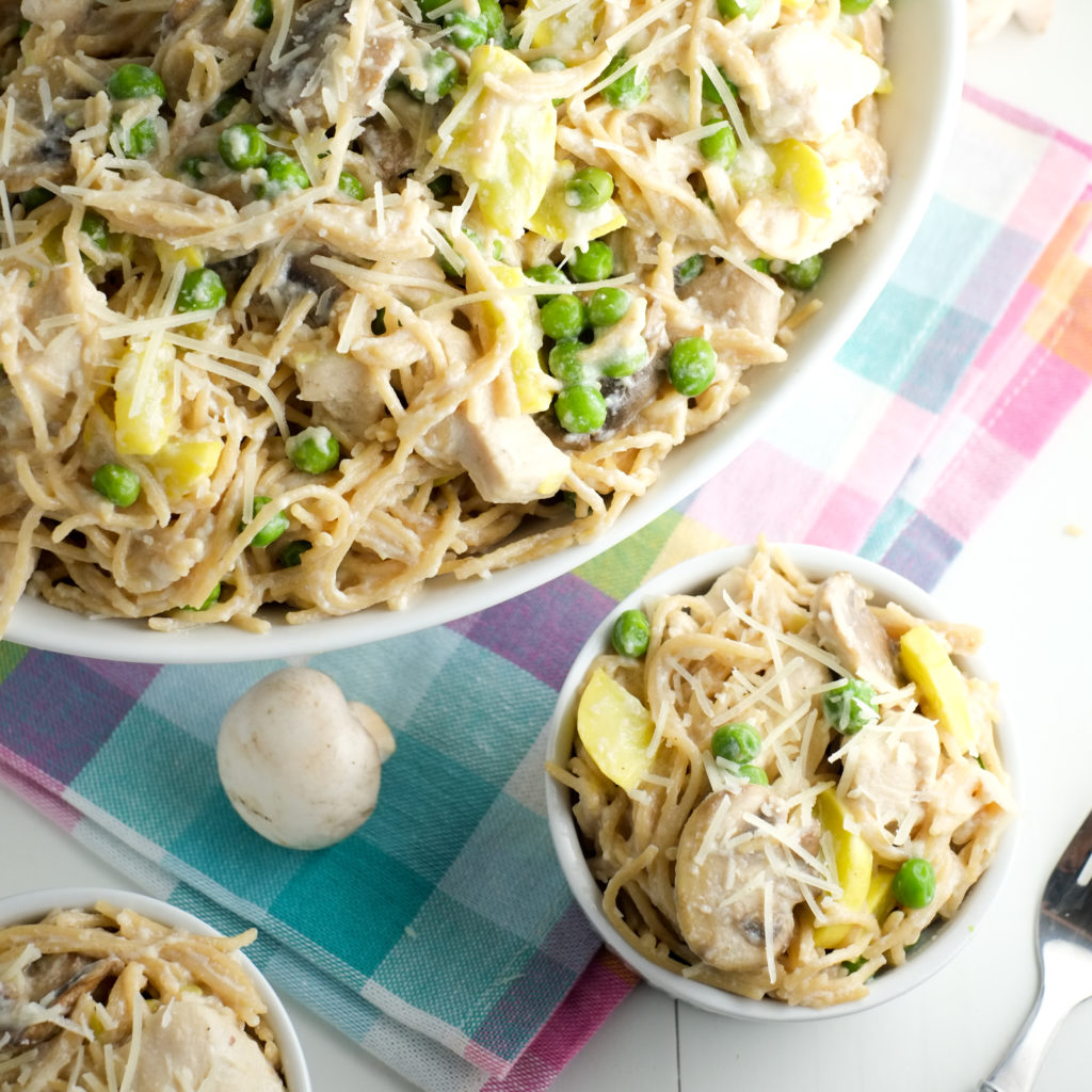 Tetrazzini MAKEOVER! Creamy AND healthy for a quick weeknight meal!