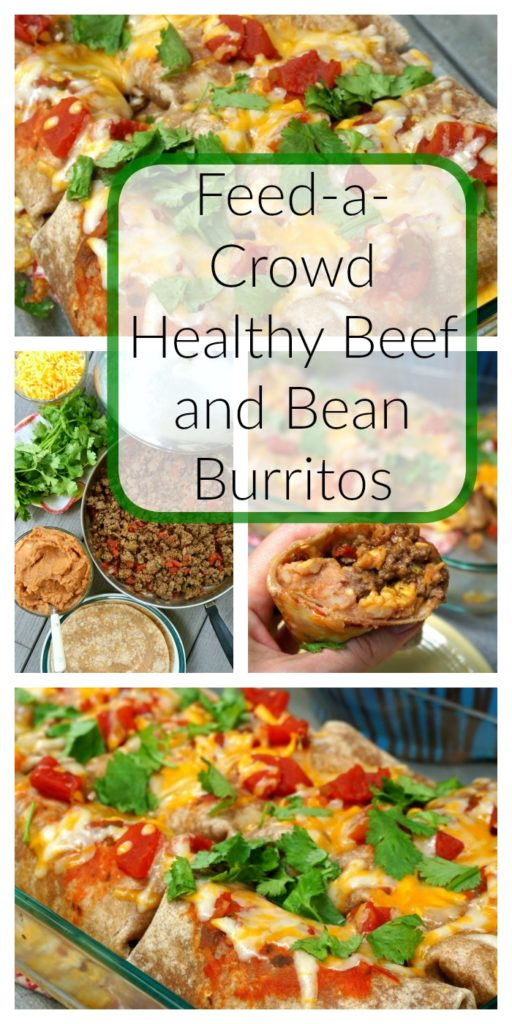 Feed-a-Crowd Healthy Beef and Bean Burritos