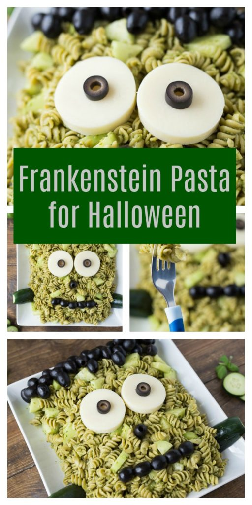 Frankenstein Pasta for Halloween