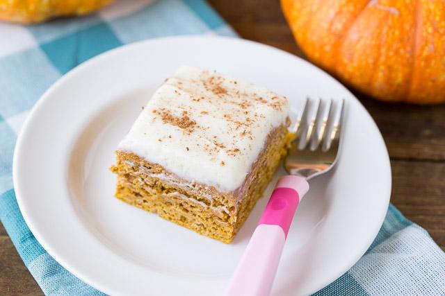Healthy Pumpkin Spice Cake your kids will love