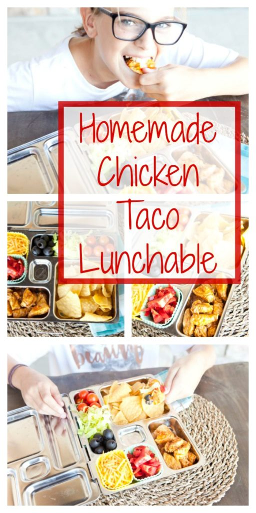 Homemade Chicken Taco Lunchable
