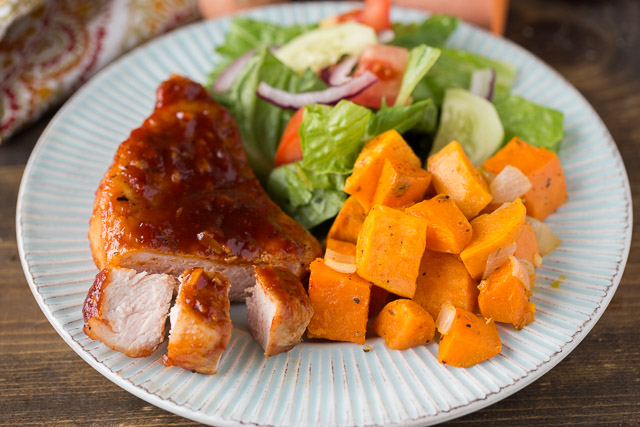 The Perfect Fall Dinner Maple Glazed Pork Chops with Sweet Potatoes
