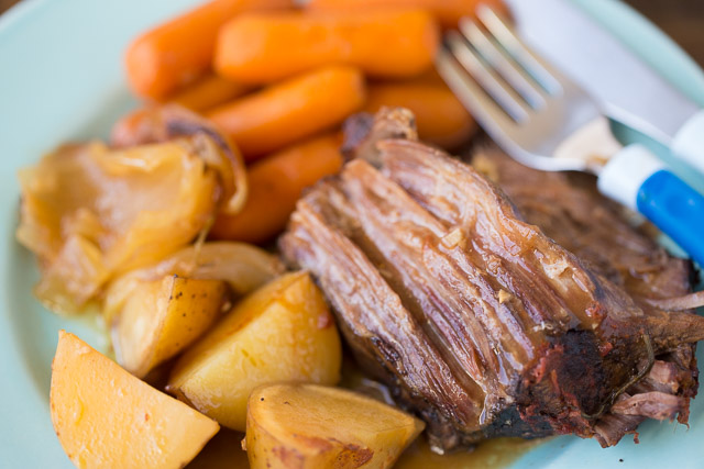 Slow Cooker Cider Braised Pot Roast Recipe