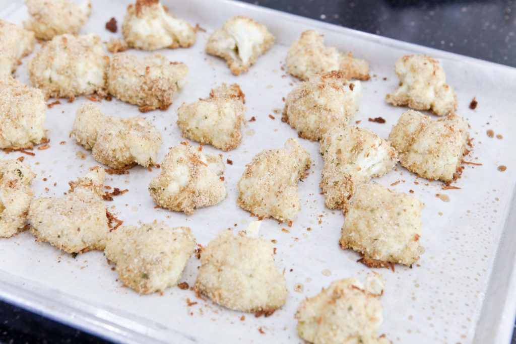 baking breaded cauliflower