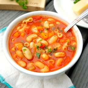 healthy pasta and beans soup