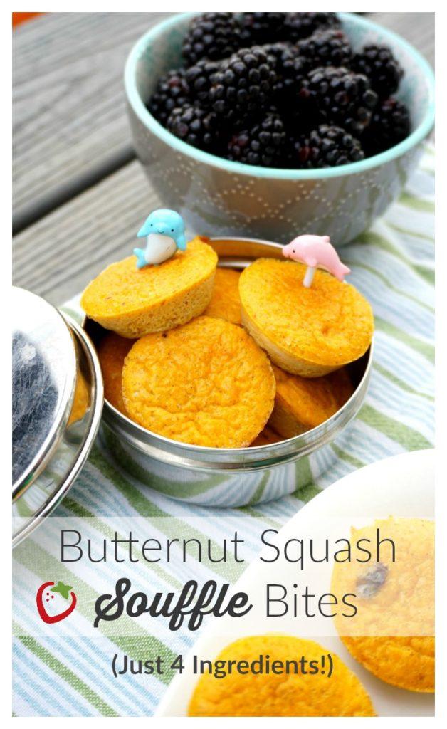 butternut squash bites and blackberries