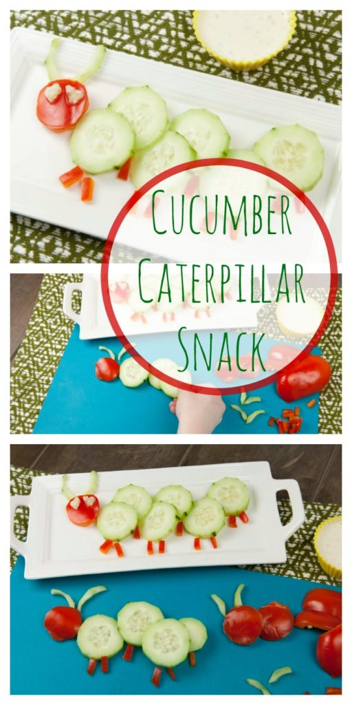 Food fun and recipes Cucumber Caterpillar Snack