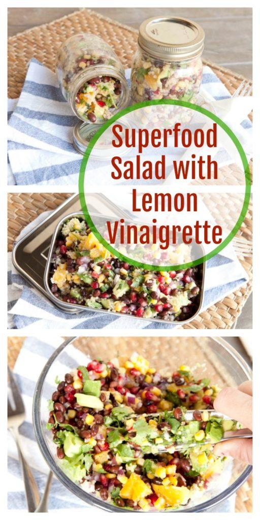 Superfood salad with lemon vinaigrette recipe
