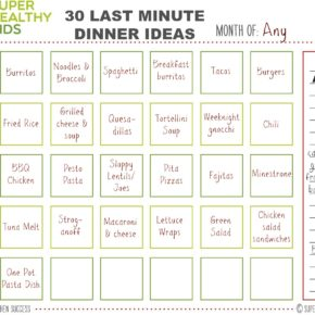 30 Last minute dinner ideas that are quick and easy printable