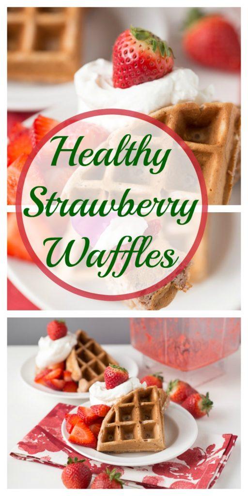 Healthy Strawberry Waffles