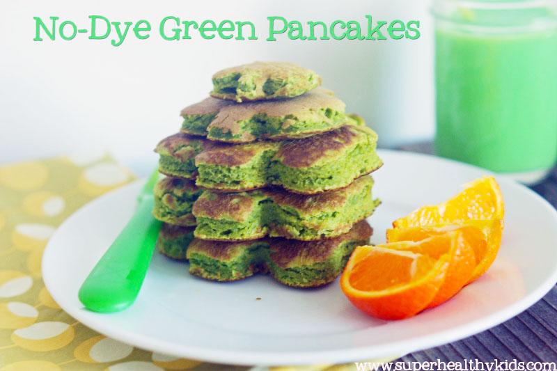 No-Dye Green Pancakes for St. Patrick's Day Fun Food