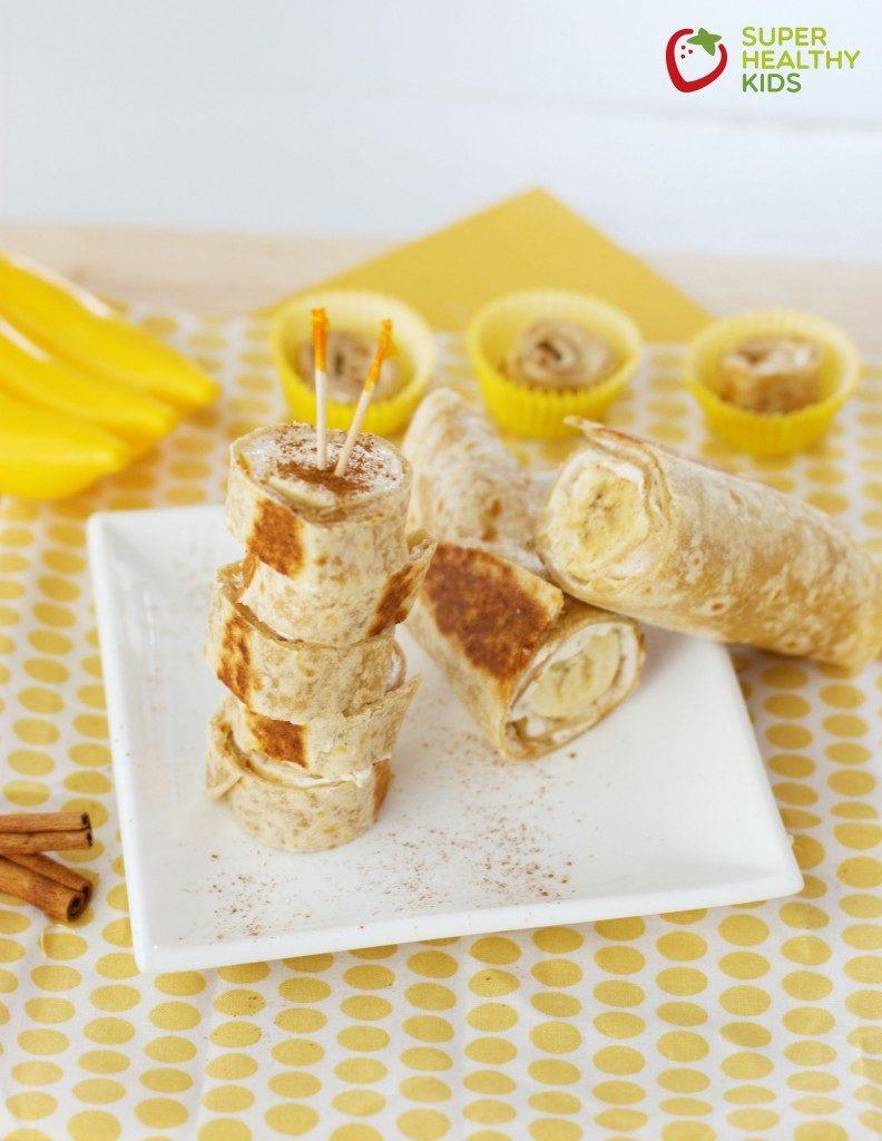 ripe banana snack idea for kids