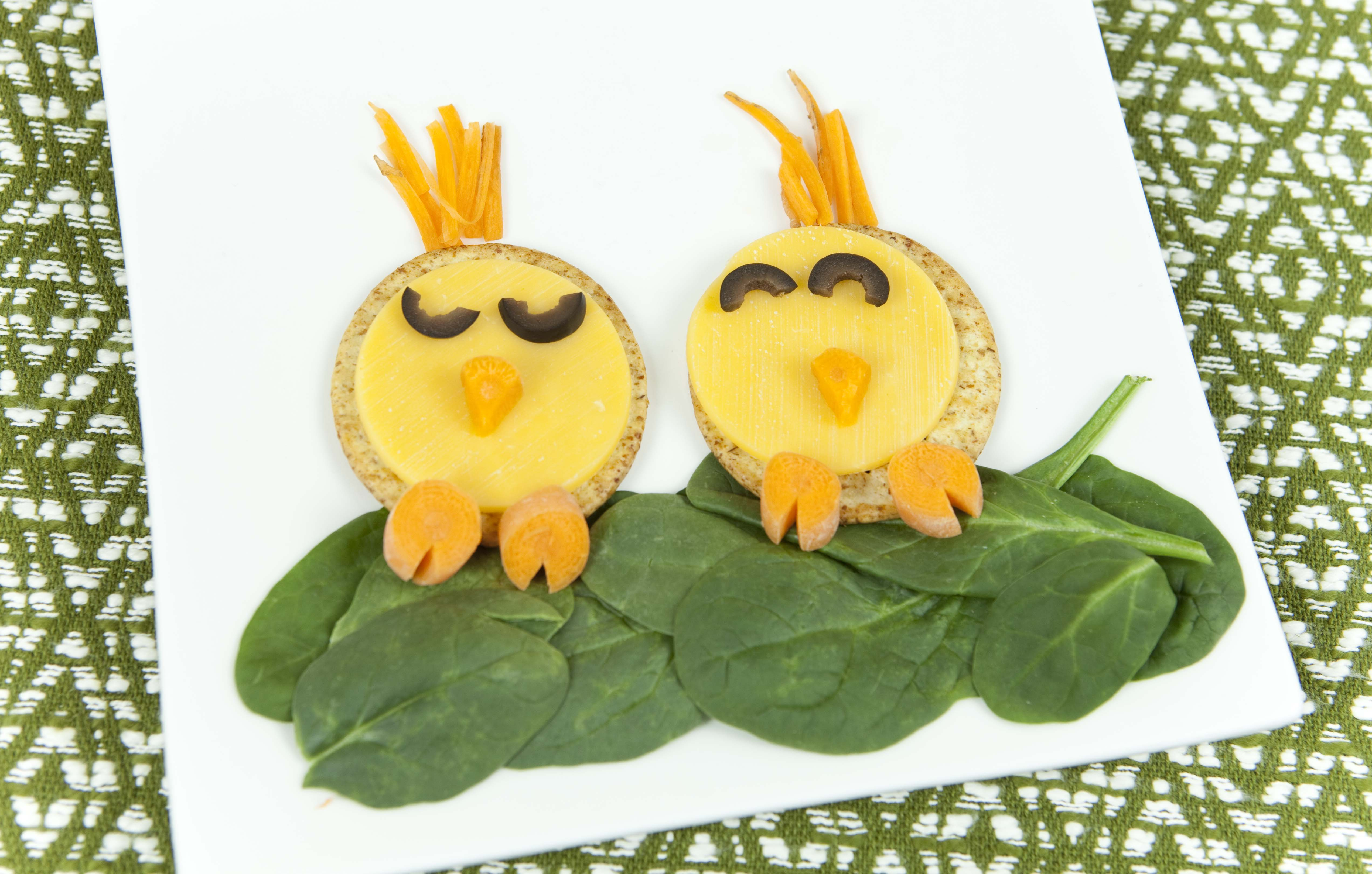 Spring Food Craft Snack Chick Crackers Healthy Ideas
