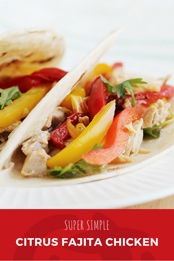 Crockpot Chicken Fajitas with Citrus