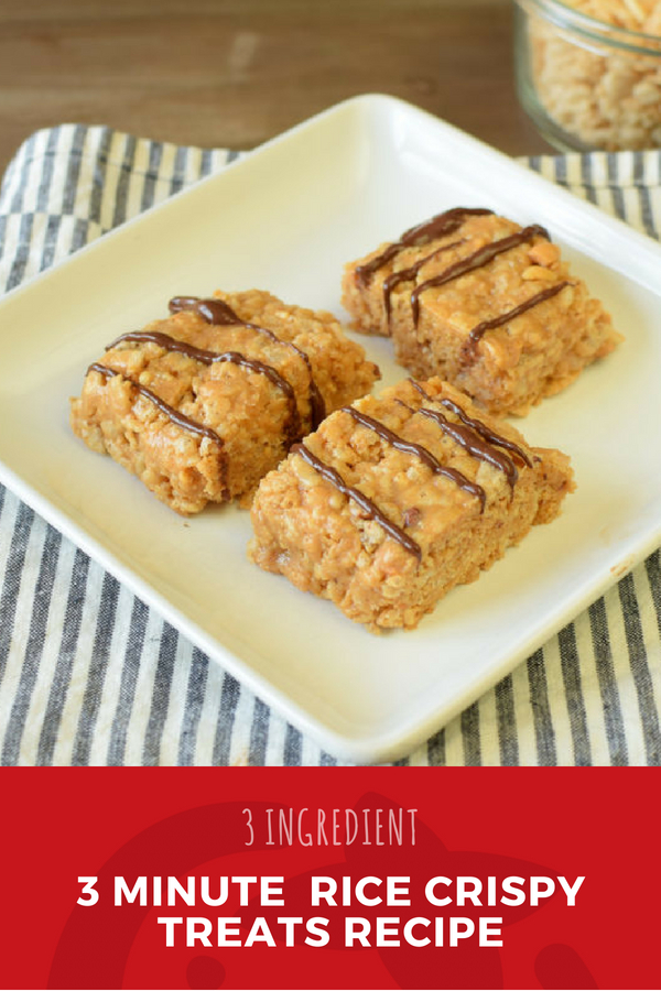 3 Minute (and 3 Ingredient) Rice Crispy Treats Recipe