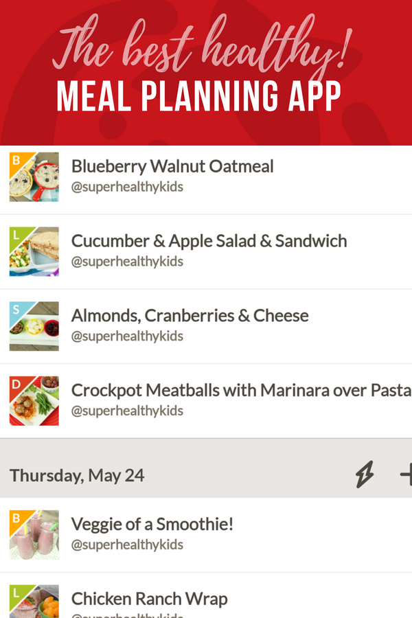 the very best meal planning app for healthy families