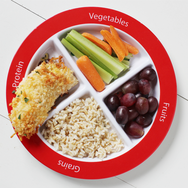 choose my plate for kids dinner idea