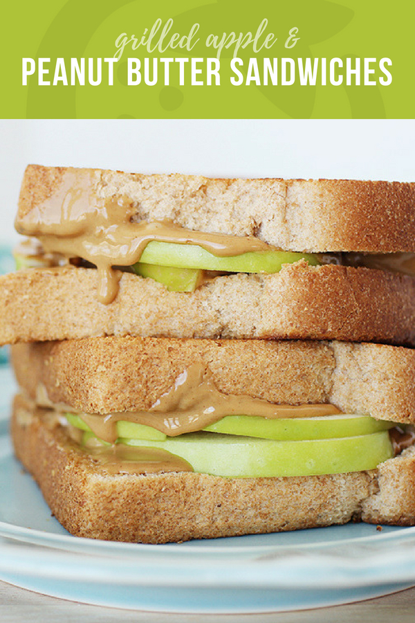 Grilled Apple and Peanut Butter Sandwich