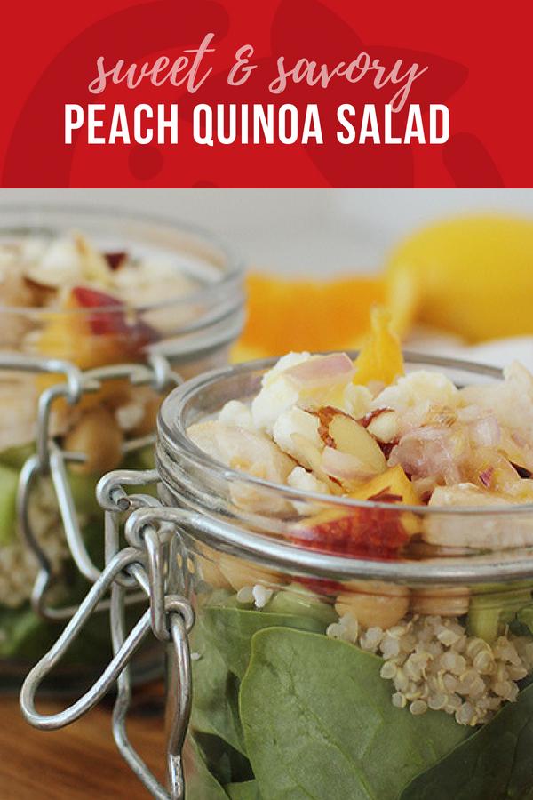 Sweet and Savory Peach Quinoa Salad