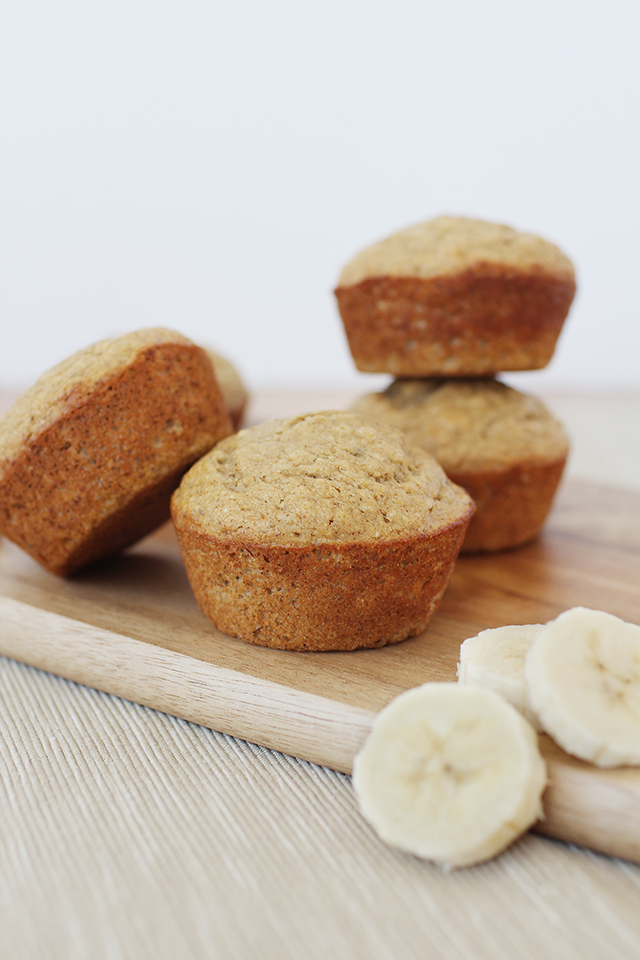 The Best Sweet Moist Healthy Banana Muffins
