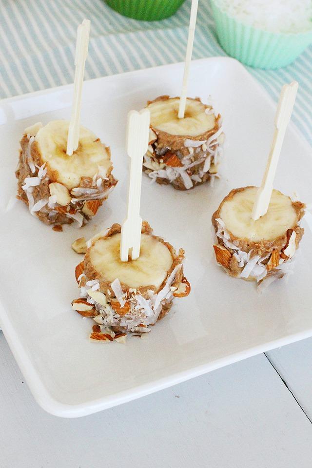 banana sushi bites snack