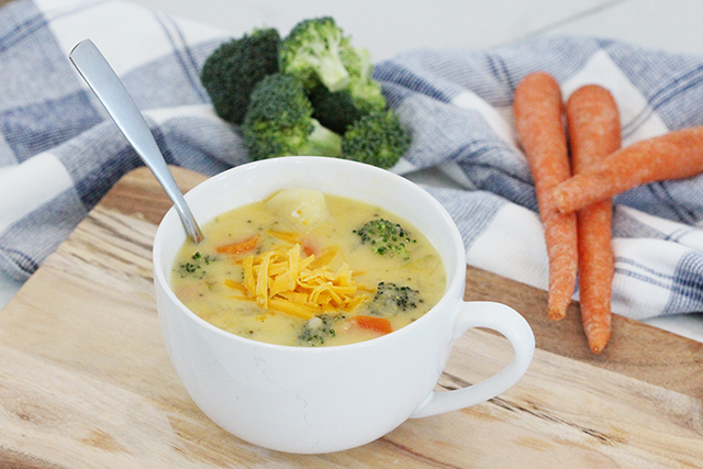 cheese on a slowcooker veggie soup