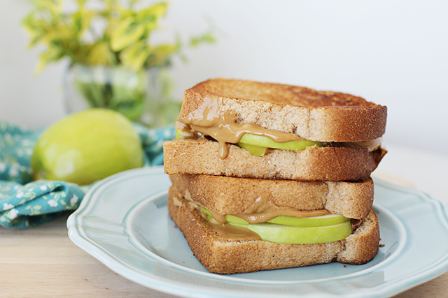 Image result for apple and peanut butter sandwich