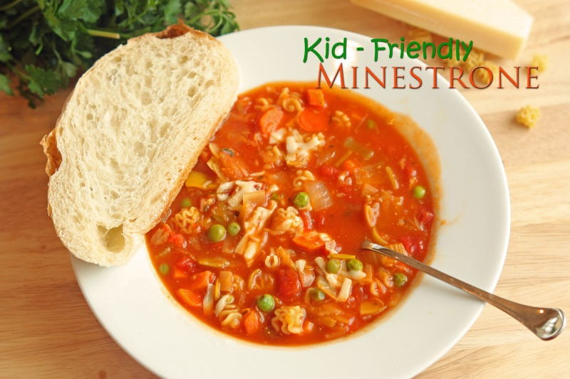 Kid friendly minestrone soup kid friendly minestrone and cook book review forumfinder