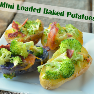 Kids Mini Loaded Baked Potatoes