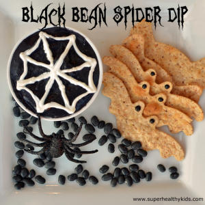 Kids Favorite Black Bean Spider Dip