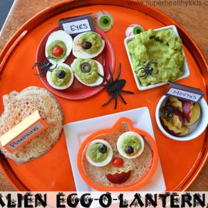 Alien Egg-O-Lantern Breakfast