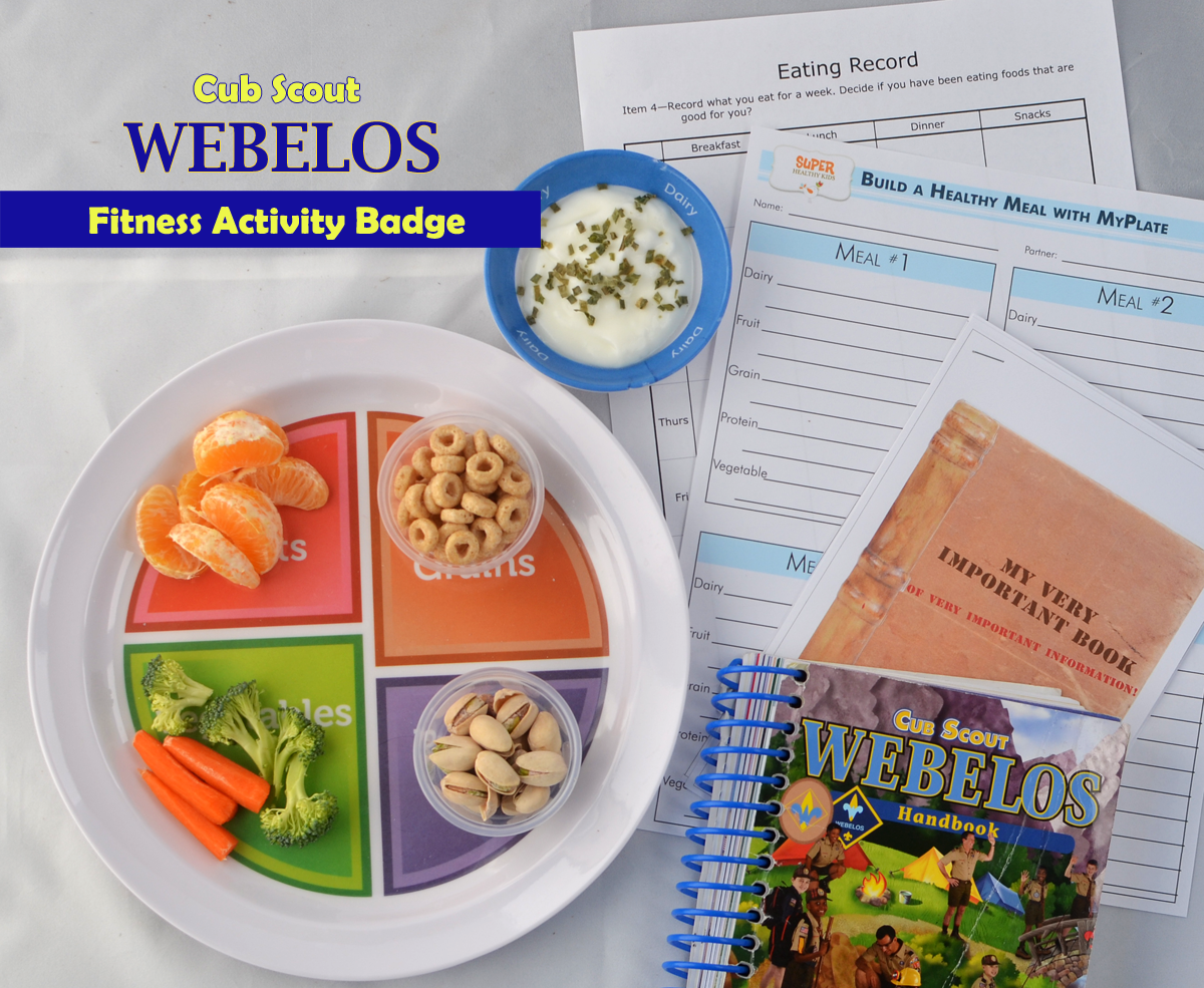 Teaching Nutrition to Rambunctious 10 Year Old Boys – Webelos Fitness Worksheet