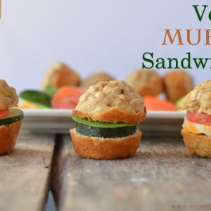 Mini Veggie Muffin Sandwich Recipe