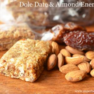 Dole Date Almond Energy Bar Recipe- Sports Nutrition