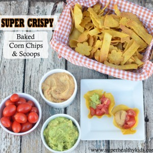 Super Crispy Baked Corn Chips and Scoops