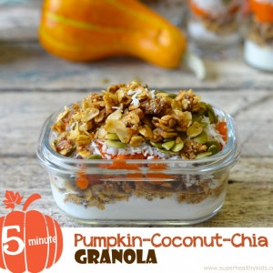 5 Minute Pumpkin Chia Coconut Granola Recipe