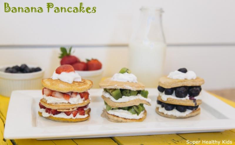 Banana pancake stacks recipe healthy ideas for kids banana pancake stacks ccuart Gallery
