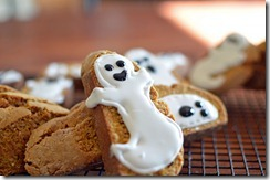 7 Grain Pumpkin Biscotti Ghosts