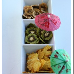 Dried Kiwi, Pineapple and Bananas