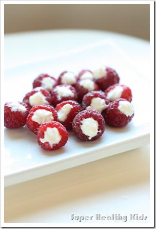 Homemade Fruit Snack Frozen Yogurt Raspberries Healthy