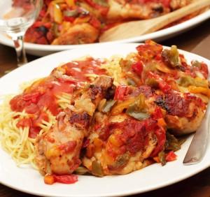 Chicken With Garlic Tomato Sauce