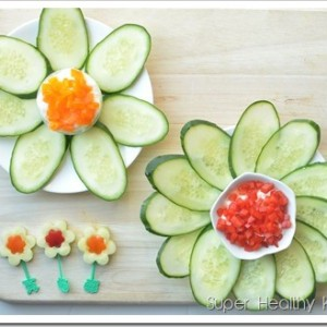 Cucumber Flowers with Yogurt Cheese Spread